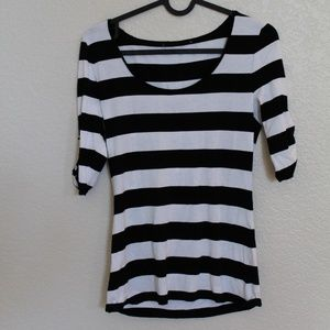White House Black Market Striped Shirt